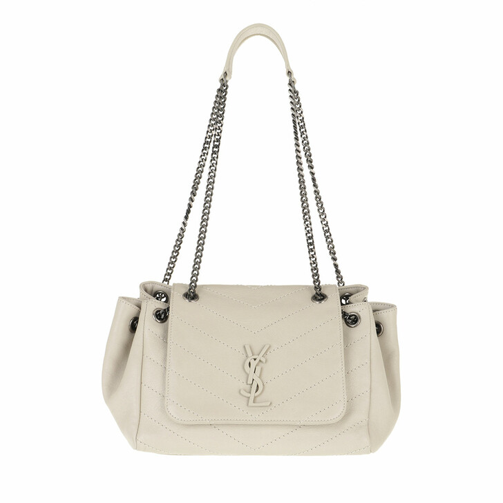 Handtasche, Saint Laurent, Nolita Shoulder Bag S Leather White