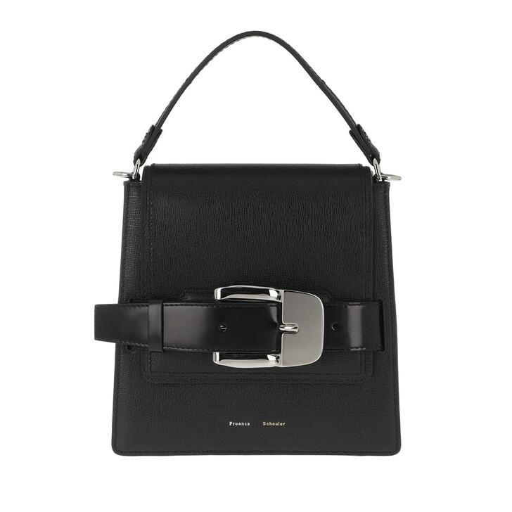 Handtasche, Proenza Schouler, Buckle Trapeze Bag Calfskin Black