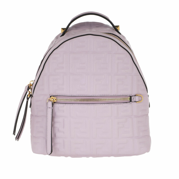 bags, Fendi, FF Monogramme Backpack Lilac