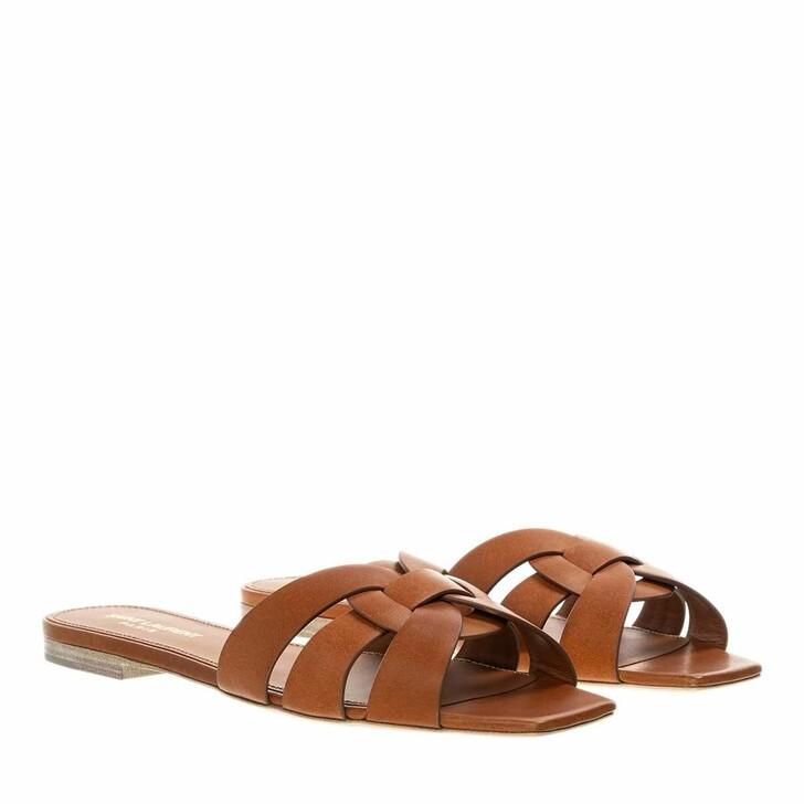 Schuh, Saint Laurent, Nu Pieds Slide Sandals Ambra