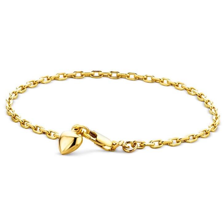Armreif, DIAMADA, 14KT Heart Bracelet Yellow Gold