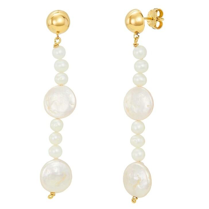 earrings, BELORO, Earring Pearls Yellow Gold