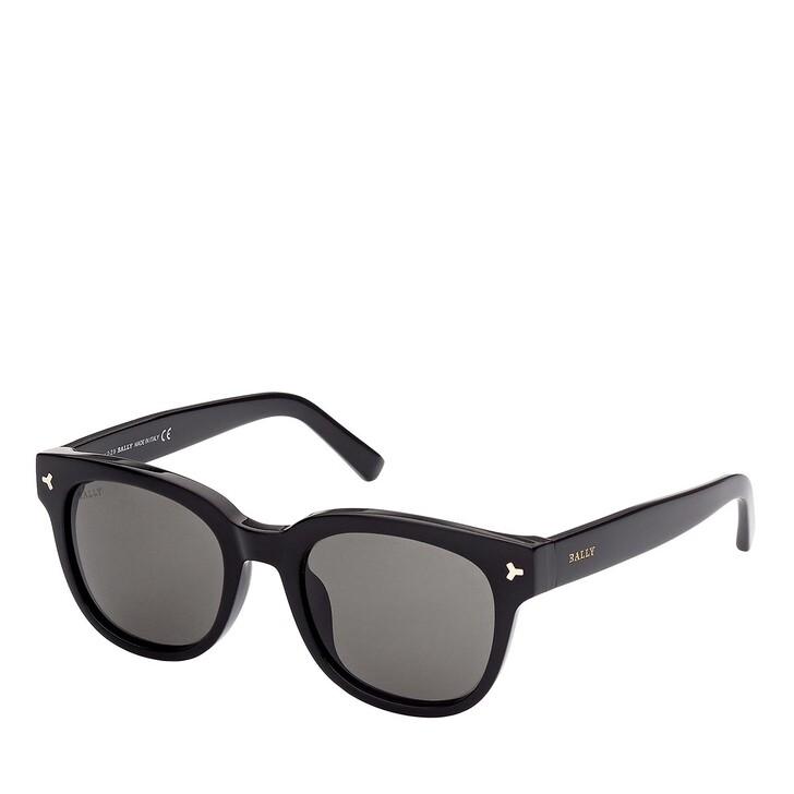 Sonnenbrille, Bally, BY0033-H Shiny Black /Smoke