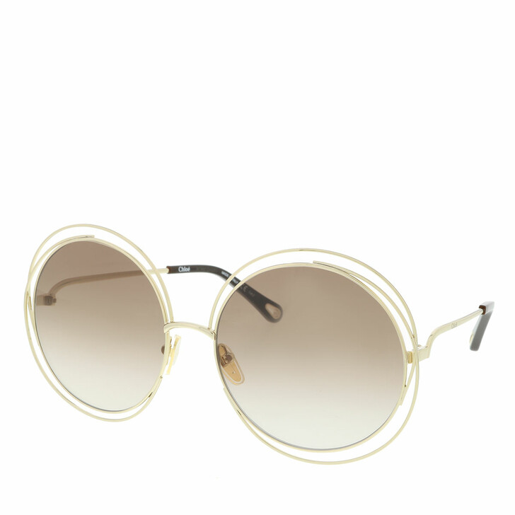 Sonnenbrille, Chloé, Sunglass WOMAN METAL GOLD-GOLD-BROWN