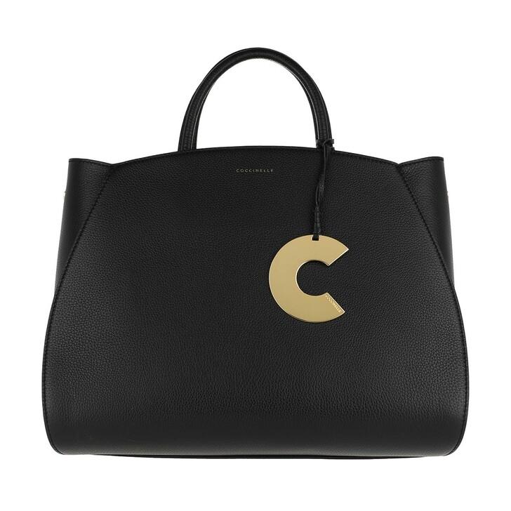 Handtasche, Coccinelle, Concrete Handle Bag Noir