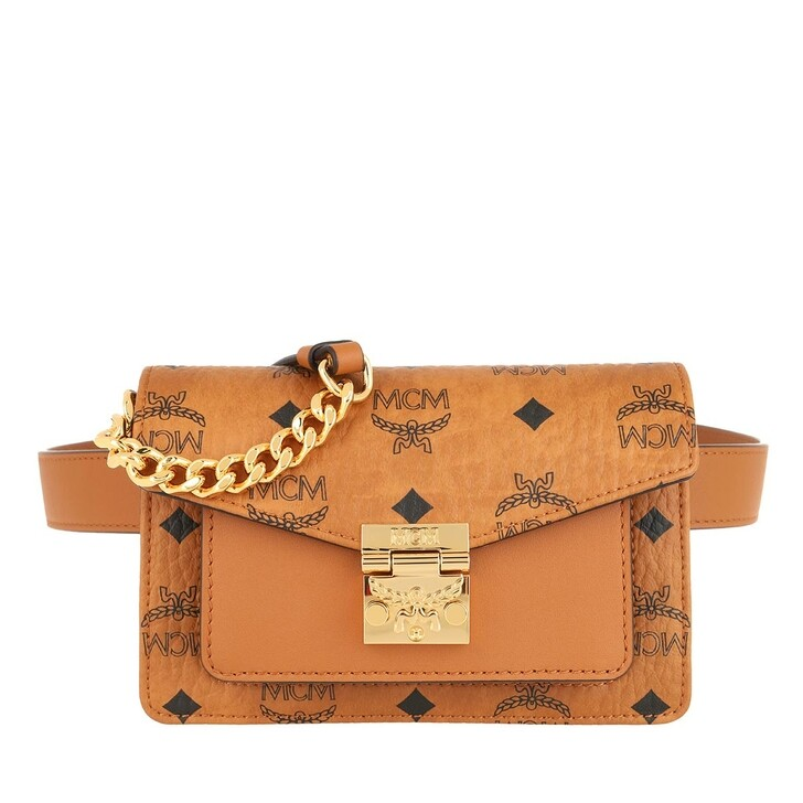 Handtasche, MCM, Patricia Visetos Belt Bag Mini  Cognac