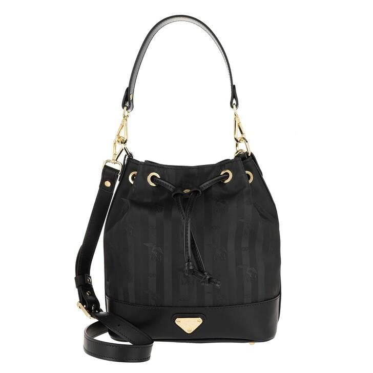 Handtasche, Maison Mollerus, Sion Bucket Bag Black/Gold