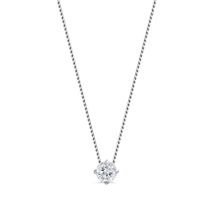 Kette, DIAMADA, 0.15ct Diamond Necklace 14KT White Gold