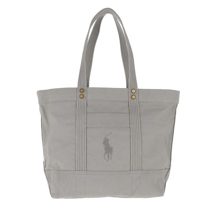 Handtasche, Polo Ralph Lauren, PP Tote Bag Canvas Light Grey