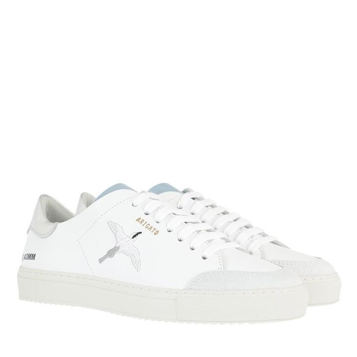 shoes, Axel Arigato, Clean 90 Triple Bird Sneakers White Silver Dusty Blue