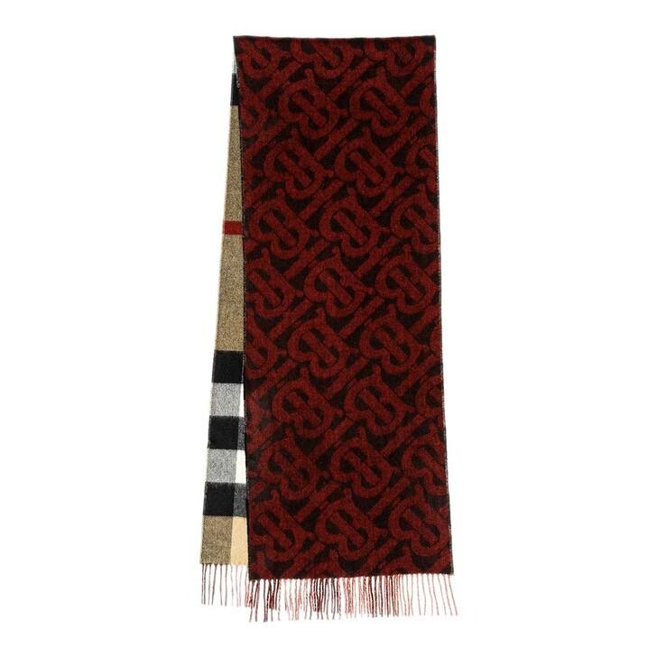 scarves, Burberry, Half Mega Scarf Bright Red