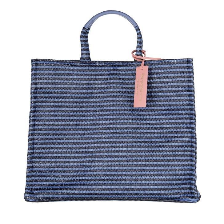 Handtasche, Coccinelle, Handbag Woven Paper Fabric Multi Pacific Blue