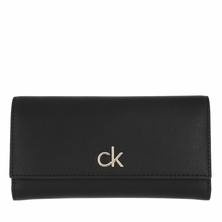 Geldbörse, Calvin Klein, Trifold Large Black