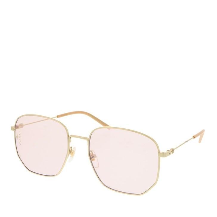 sunglasses, Gucci, GG0396S-004 56 Sunglass Woman Photocromatic Lens & Blue Blocker Gold-Pink