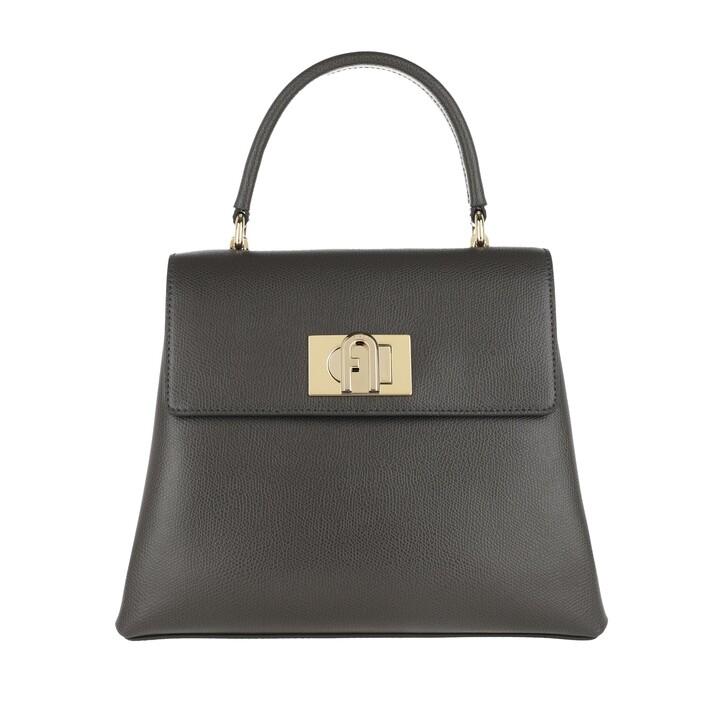 Handtasche, Furla, 1927 Small Top Handle Bag Asfalto Grey