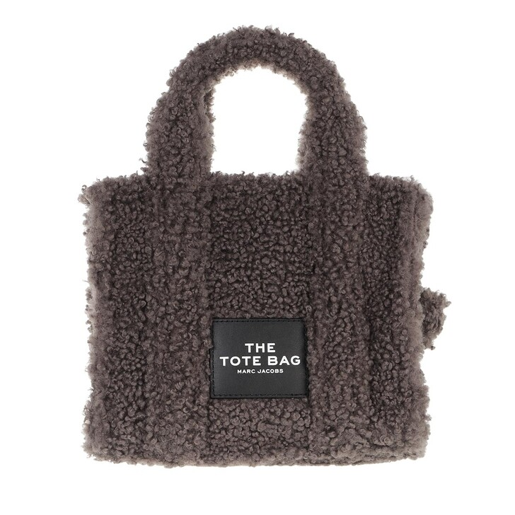 bags, Marc Jacobs, Mini Traveler Teddy Tote Bag Grey