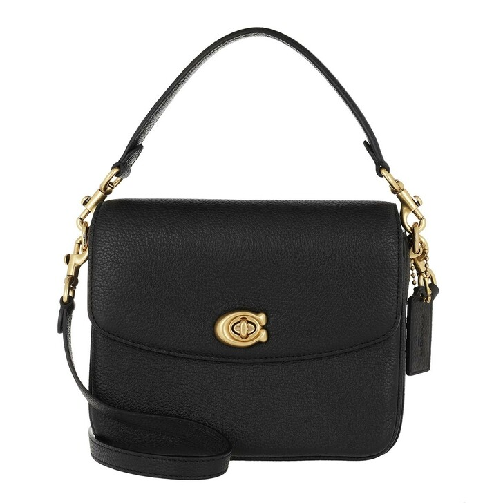 Handtasche, Coach, Polished Pebbled Leather Cassie Crossbody 19 Black