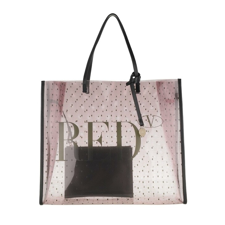 bags, Red Valentino, Tote Nude Black