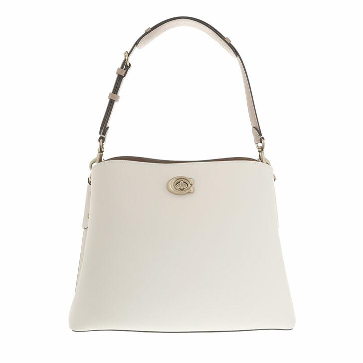 Handtasche, Coach, Colorblock Leather Willow Shoulder Bag B4/Chalk Multi