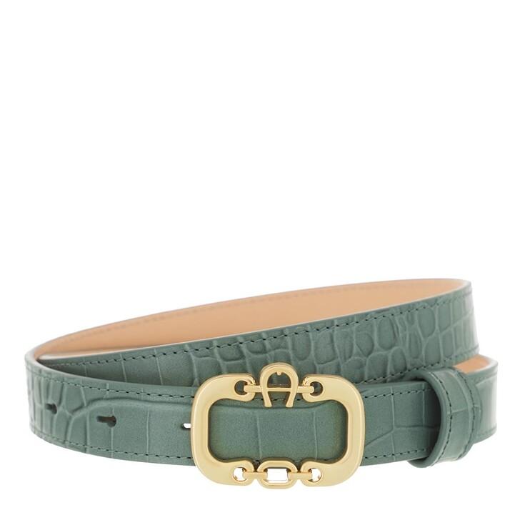 belts, AIGNER, Celia Belt 2,5 cm Dusty Green