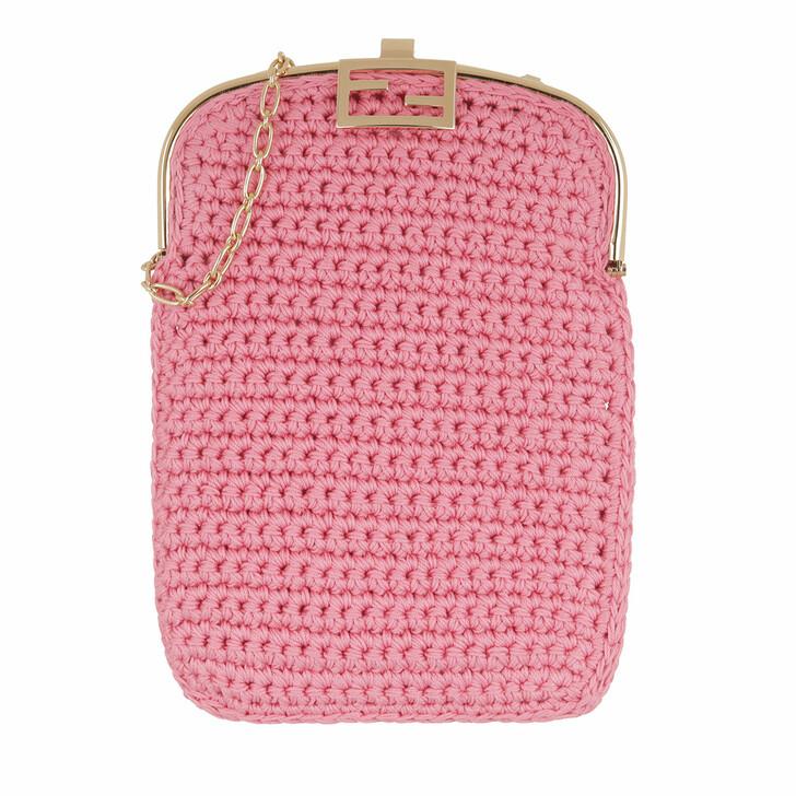 Handtasche, Fendi, Baguette Chain Phone Bag Rosa