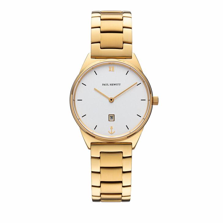 Uhr, PAUL HEWITT, Watch Praia White Sand Metal Strap Gold