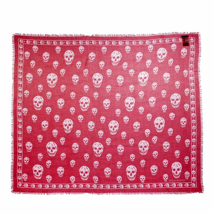 scarves, Alexander McQueen, Skull Scarf 104X120 Modal/Silk Lacquer/Pink