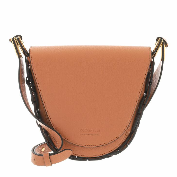 bags, Coccinelle, Handbag Grained Leather  Chestnut