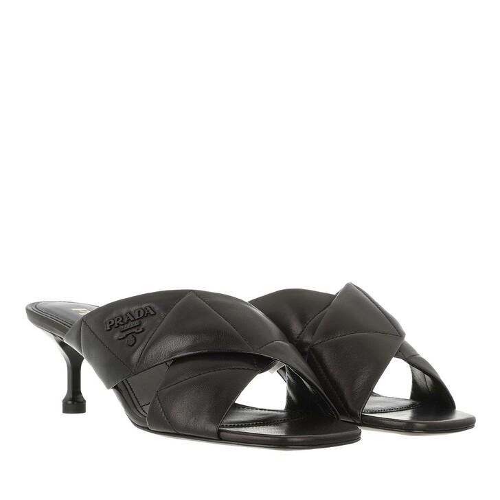 shoes, Prada, Heeled Mules Leather Black