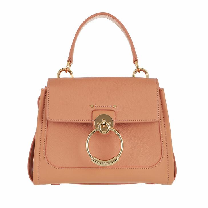 bags, Chloé, Tess Day Mini Crossbody Bag Leather Peach Bloom
