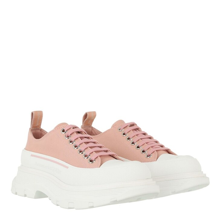 shoes, Alexander McQueen, Tread Slick Lace Up Sneakers Rose