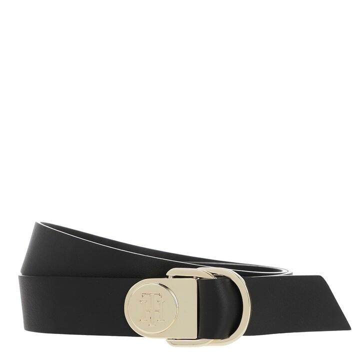 Gürtel, Tommy Hilfiger, TH Ring Belt Leather Black