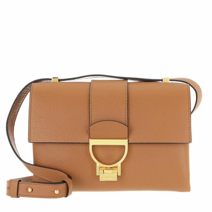 bags, Coccinelle, Arlettis Handbag Grainy Leather  Caramel