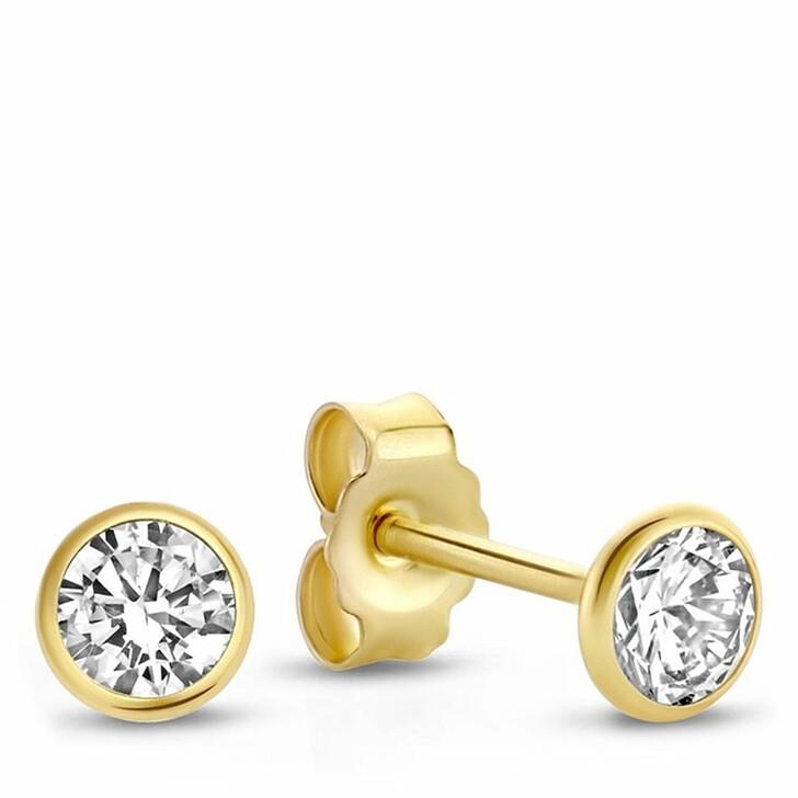 earrings, Isabel Bernard, Rivoli Juliette 14 Karat Ear Studs With Zirconia