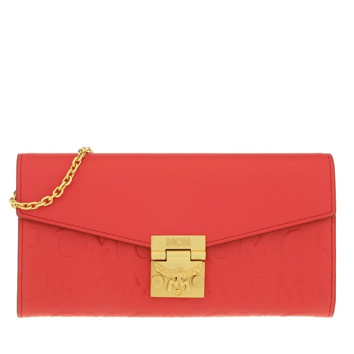 Geldbörse, MCM, Large Patricia Wallet Leather Poppy Red