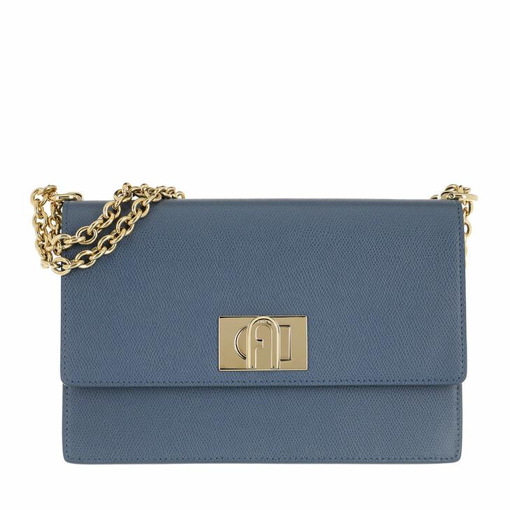 Handtasche, Furla, 1928 Small Crossbody 24 Blu Denim