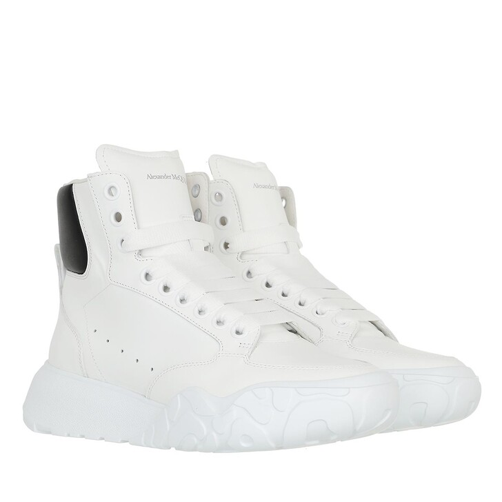 shoes, Alexander McQueen, High Top Sneakers White/Black
