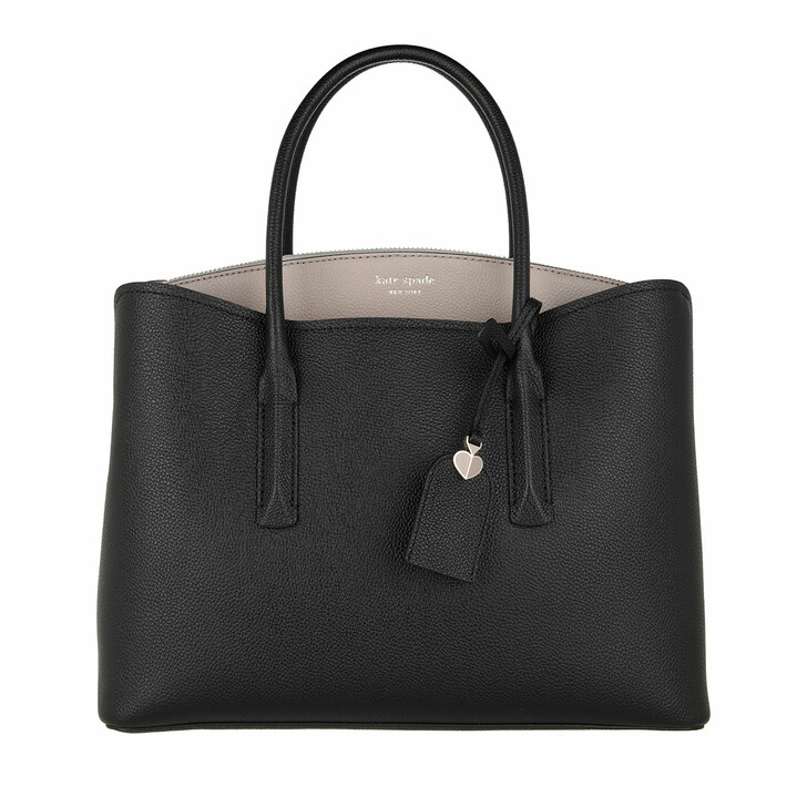 Handtasche, Kate Spade New York, Large Satchel  Black/Warm Taupe