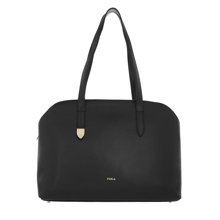 bags, Furla, Block Large Tote Nero