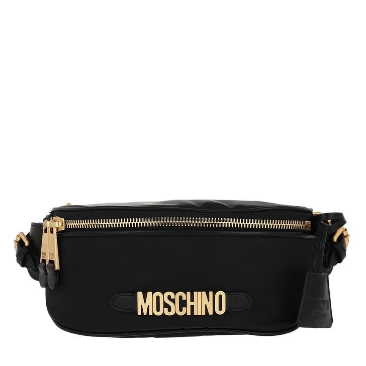 Handtasche, Moschino, Logo Belt Bag Black