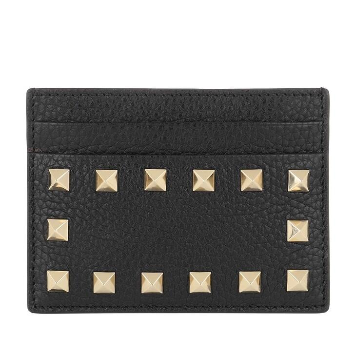 wallets, Valentino Garavani, Rockstud Cardholder Wallet Leather Nero