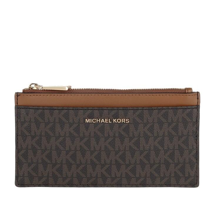 wallets, MICHAEL Michael Kors, Large Slim Card  Brn/Acorn