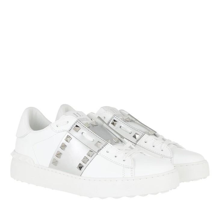 shoes, Valentino Garavani, Open Sneakers White Silver