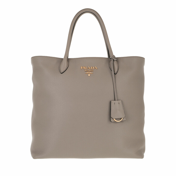 bags, Prada, Shopping Bag Vitello Daino Baltico Clay