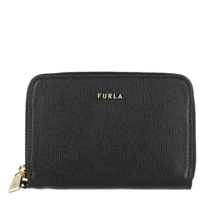wallets, Furla, Furla Babylon S Zip Around Cc Nero