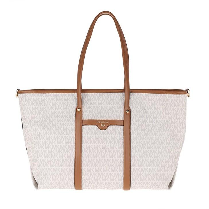 bags, MICHAEL Michael Kors, Large Tote Vanilla/Acorn