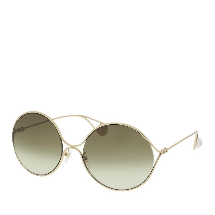 Sonnenbrille, Gucci, GG0253SA-002 60 Sunglass WOMAN METAL GOLD