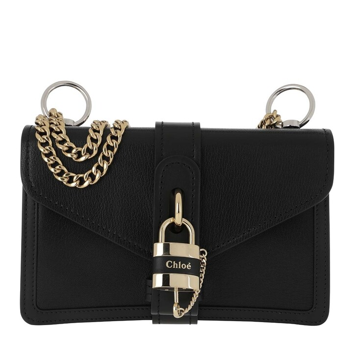 Handtasche, Chloé, Aby Shoulder Bag Leather Black