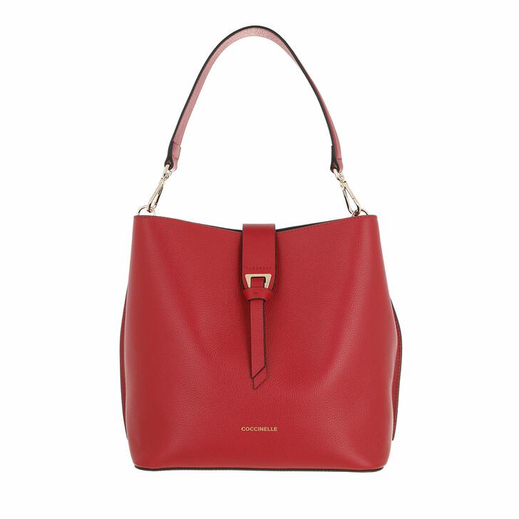 bags, Coccinelle, Alba Handbag Bottalatino Leather Ruby