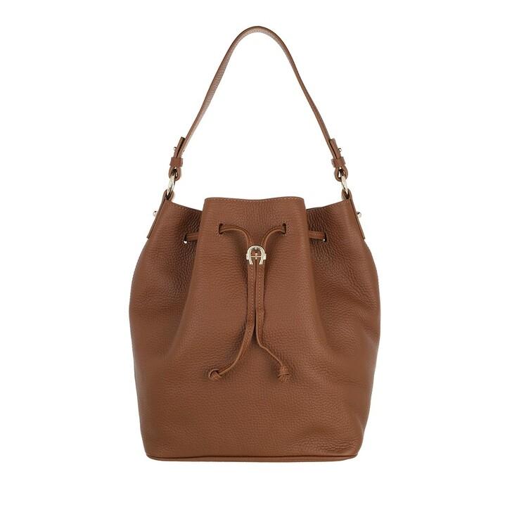 bags, AIGNER, Tara Handbag Dark Toffee Brown